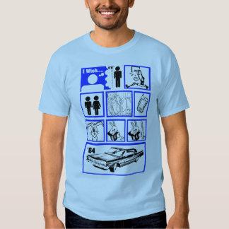 I Wish I was Taller Blue T Shirts