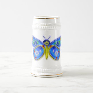 I Wish I Were a Butterfly 18 Oz Beer Stein