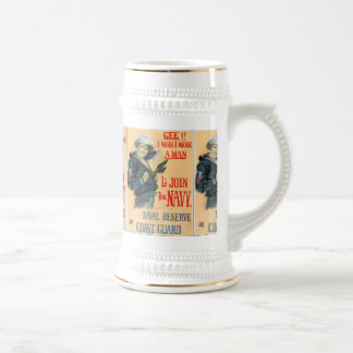 I wish I Were A Man Beer Stein
