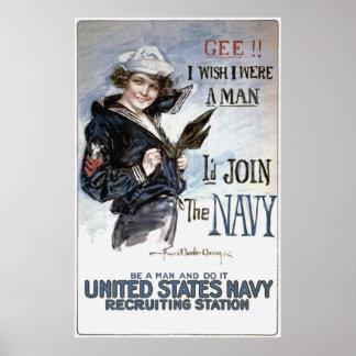 I Wish I Where a Man Poster
