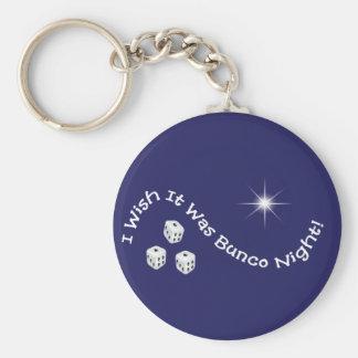 i wish it was bunco night key chain
