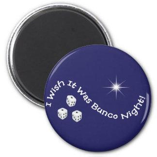 i wish it was bunco night magnet