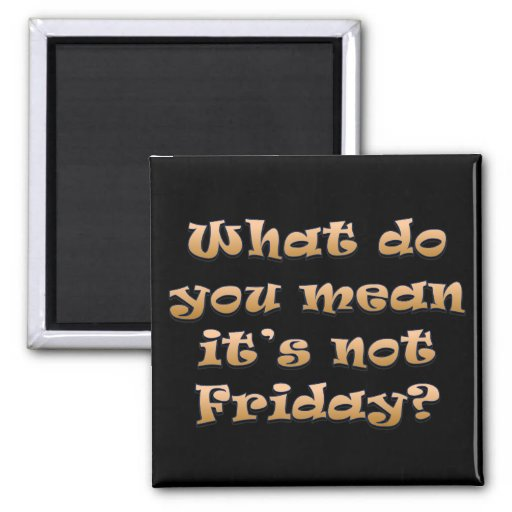 I wish it was Friday Refrigerator Magnets