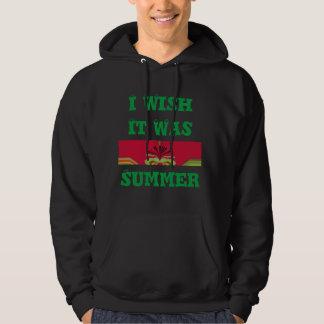 I Wish It Was Summer Men's Basic Hooded Sweatshirt