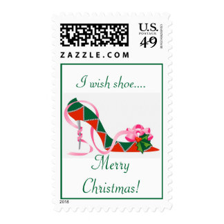 I wish shoe...., Merry Christmas! Postage