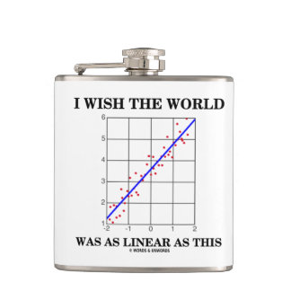 I Wish The World Was As Linear As This (Humor) Flask