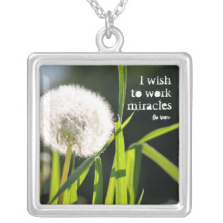 I wish to make miracles personalized necklace