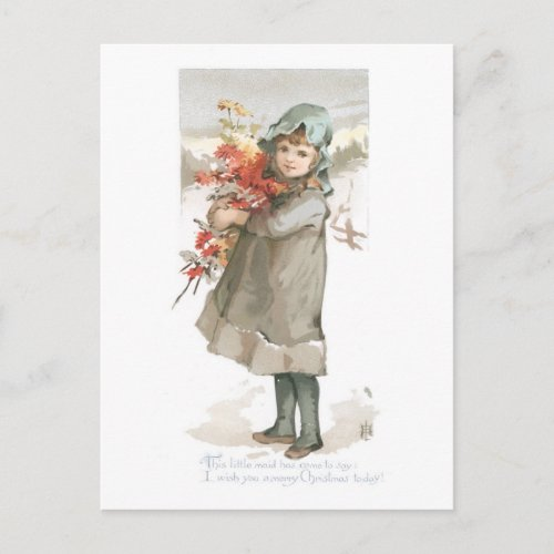 I Wish You a Merry Christmas Today Holiday Postcard