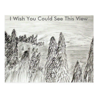 I Wish You Could See This View Postcard