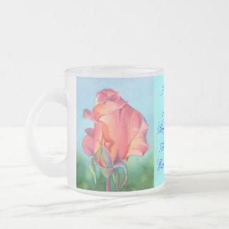 I Wish You Joy Frosted Glass Coffee Mug