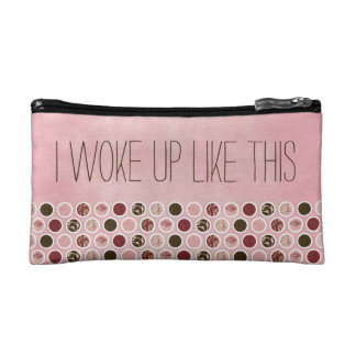 I woke up like this cosmetic bag