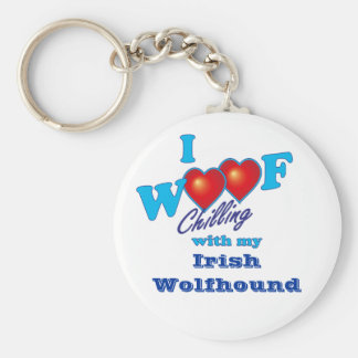 I Wolfhound irlandés del tejido Llavero Redondo Tipo Pin