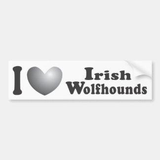 I Wolfhounds irlandeses del corazón - pegatina par Pegatina Para Auto