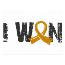I Won Appendix Cancer Postcard