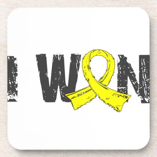 I Won Bladder Cancer Beverage Coaster