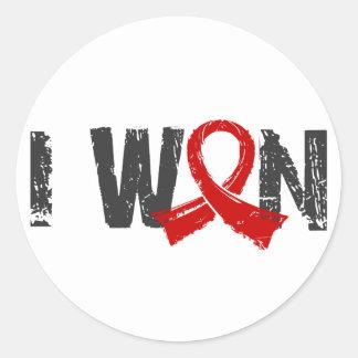 I Won Blood Cancer Round Stickers