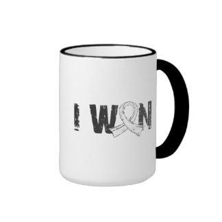 I Won Bone Cancer Ringer Coffee Mug