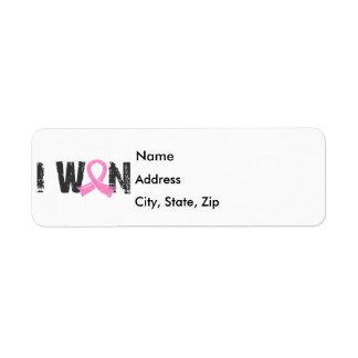 I Won Breast Cancer Label