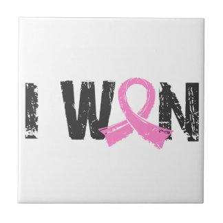 I Won Breast Cancer Ceramic Tiles