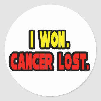I Won. Cancer Lost. Classic Round Sticker
