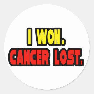 I Won. Cancer Lost. Classic Round Sticker