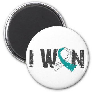 I Won Cervical Cancer 2 Inch Round Magnet