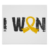 I Won Childhood Cancer Poster