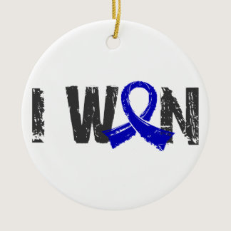 I Won Colon Cancer Ceramic Ornament
