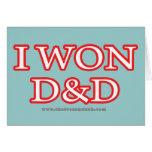 I Won D&D Cards