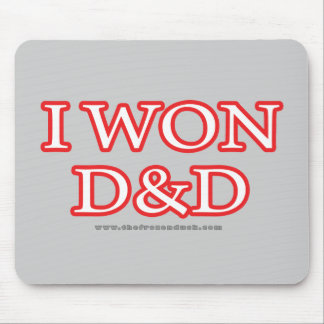 I Won D&D Mouse Pad
