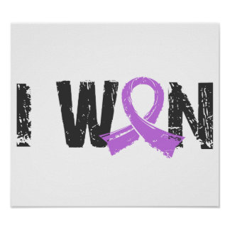 I Won General Cancer Poster