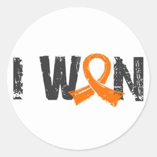 I Won Kidney Cancer Classic Round Sticker