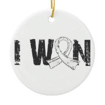 I Won Lung Cancer Ceramic Ornament