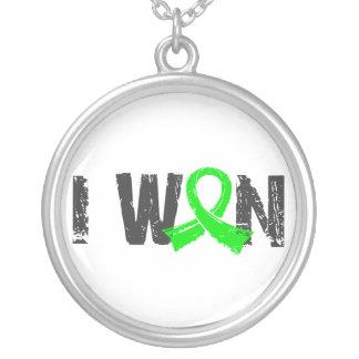 I Won Lymphoma Round Pendant Necklace