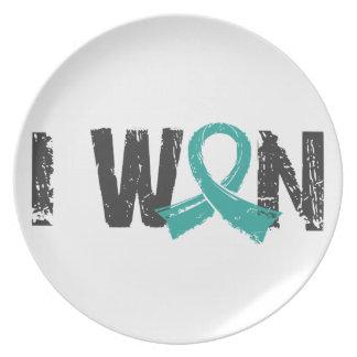 I Won Ovarian Cancer Dinner Plate