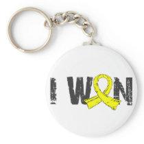 I Won Testicular Cancer Basic Round Button Keychain
