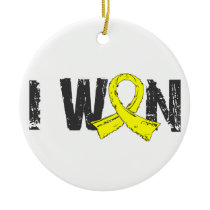 I Won Testicular Cancer Ceramic Ornament