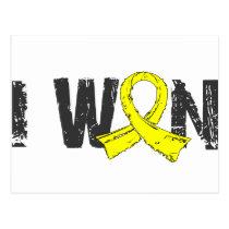 I Won Testicular Cancer Postcard