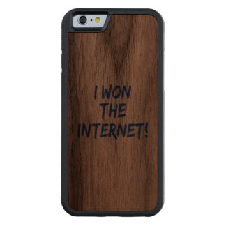 I Won the Internet Carved Walnut iPhone 6 Bumper Case