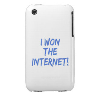 I Won the Internet - Choose Background Color iPhone 3 Covers
