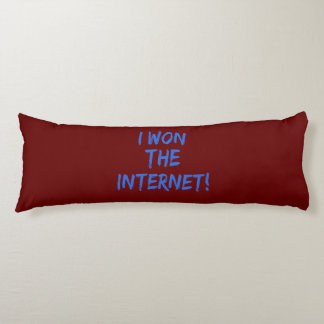 I Won the Internet - Red Background Body Pillow