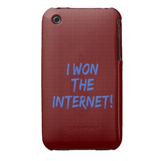 I Won the Internet - Red Background iPhone 3 Case