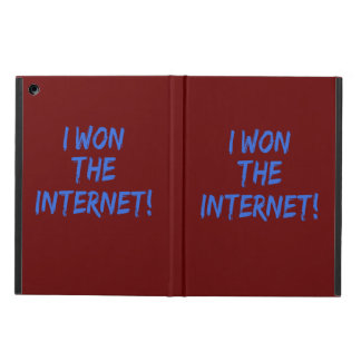 I Won the Internet - Red Background Cover For iPad Air