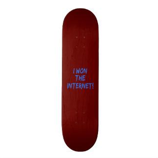 I Won the Internet - Red Background Skateboard Deck