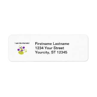I won the internetz! return address label