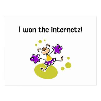I won the internetz! postcard