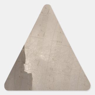 I Wonder As I Wander Triangle Sticker