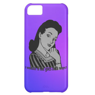 I wonder if she goes both ways? cover for iPhone 5C