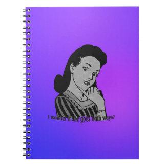 I wonder if she goes both ways? note book