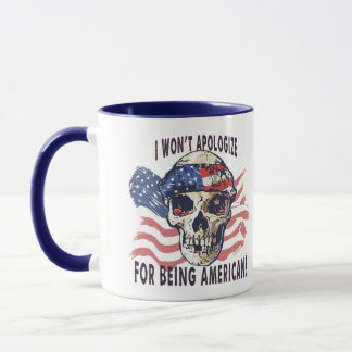 I won't apologize for being American Gear Mug